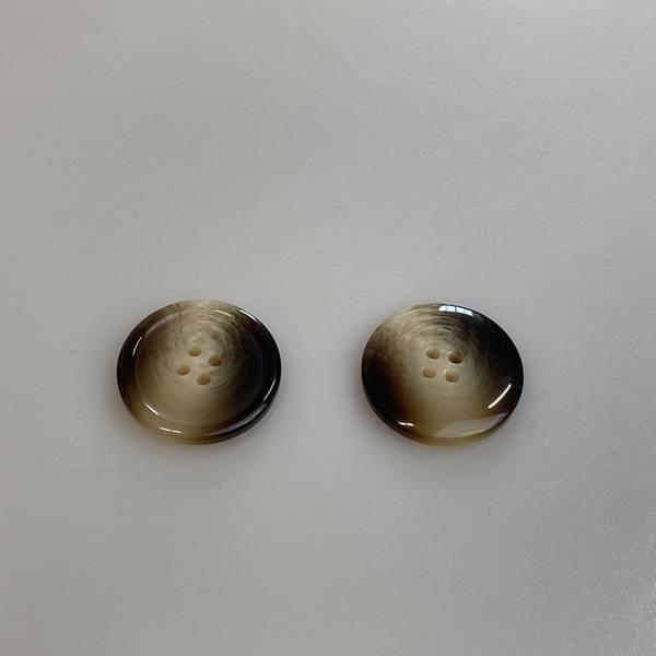 Bilde av Blank knapp, Gråbrun - 20 mm