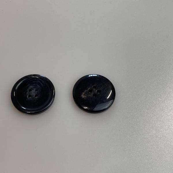 Bilde av Blank knapp, Svart - 20 mm