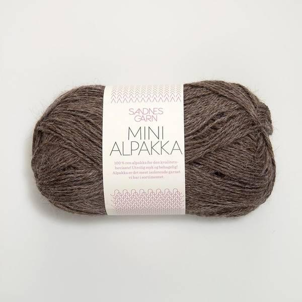Bilde av Mini Alpakka - 2652 Mellombrun melert