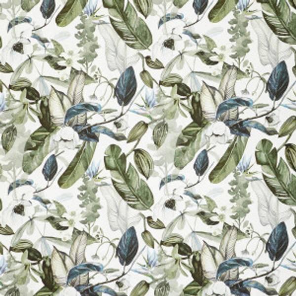 Bilde av Floral Greenery, Marineblå/Grønn-  Interiørstoff