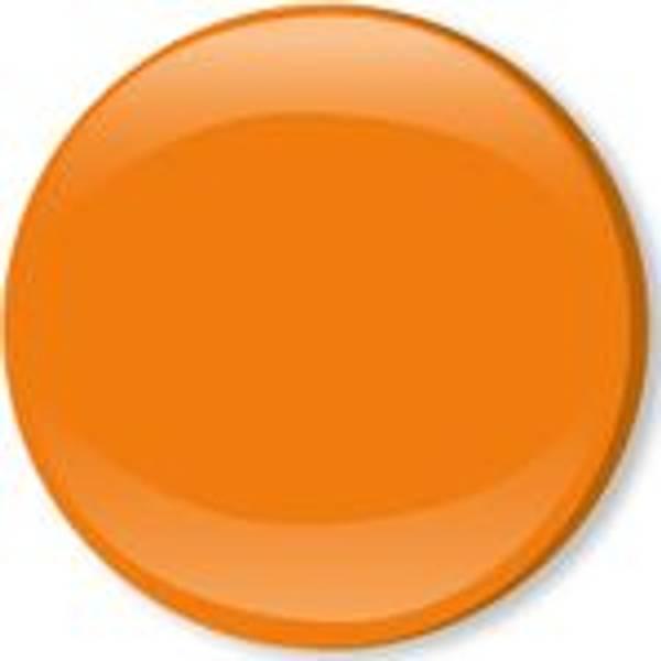 Bilde av Metall trykknapper med kappe, 10 mm -  Orange
