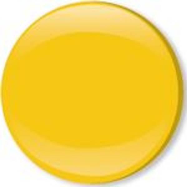Bilde av Metall trykknapper med kappe, 10 mm - Gul