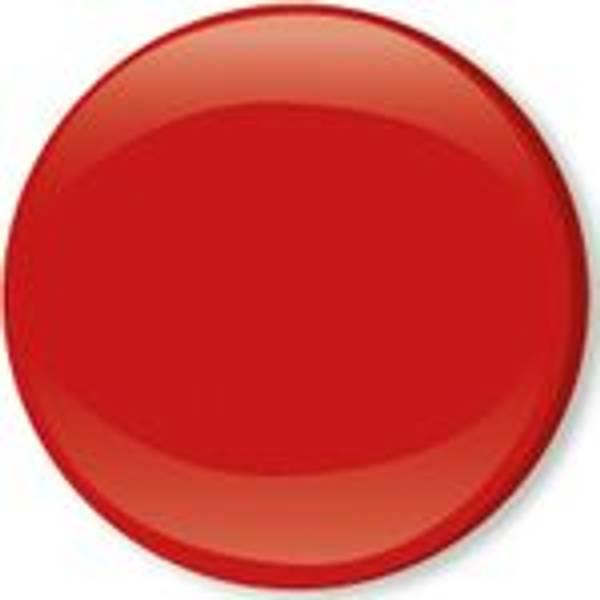 Bilde av Metall trykknapper med kappe, 10 mm - Rød