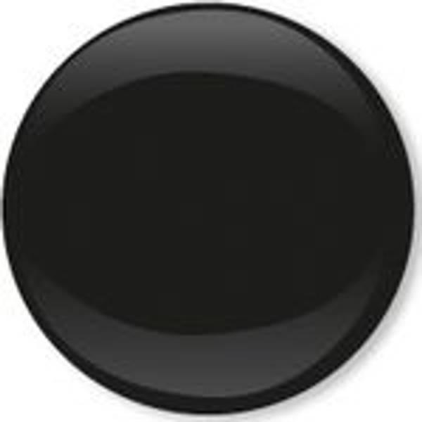 Bilde av Metall trykknapper med kappe, 10 mm - Svart