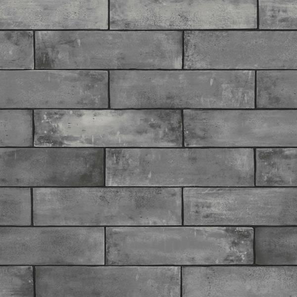 Bilde av Grey brick slate tapet