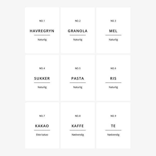 Bilde av Etiketter til kjøkken