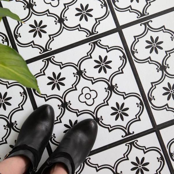 Bilde av Vareprøve: Ornament selvklebende gulvfliser