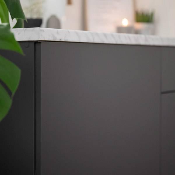 Bilde av Uni matt antrasitt grå kontaktplast