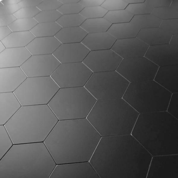 Bilde av Stein Hexagon sort matt selvklebende veggfliser