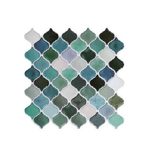 Bilde av Vareprøve: Lanterne blå/grønn selvklebende veggfliser