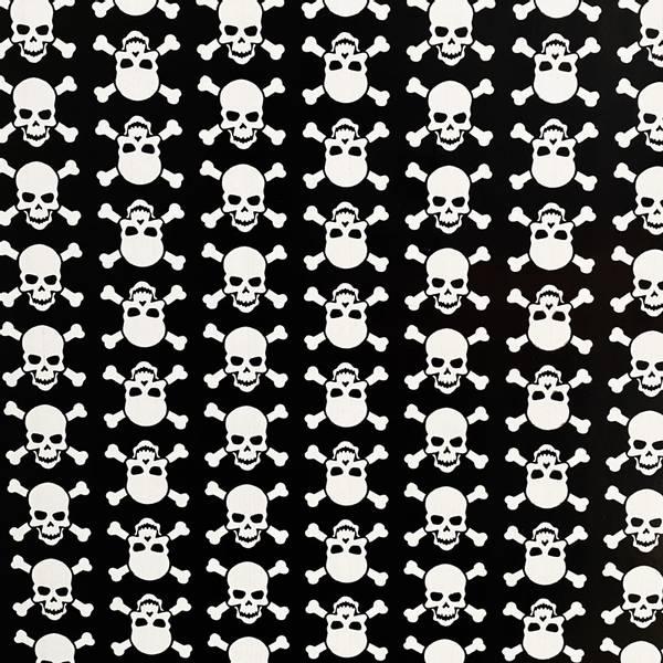 Bilde av Vareprøve: Skulls hvit kontaktplast