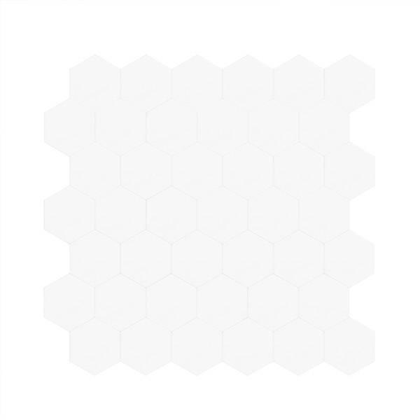 Bilde av Vareprøve: Stein Hexagon hvit matt selvklebende veggfliser