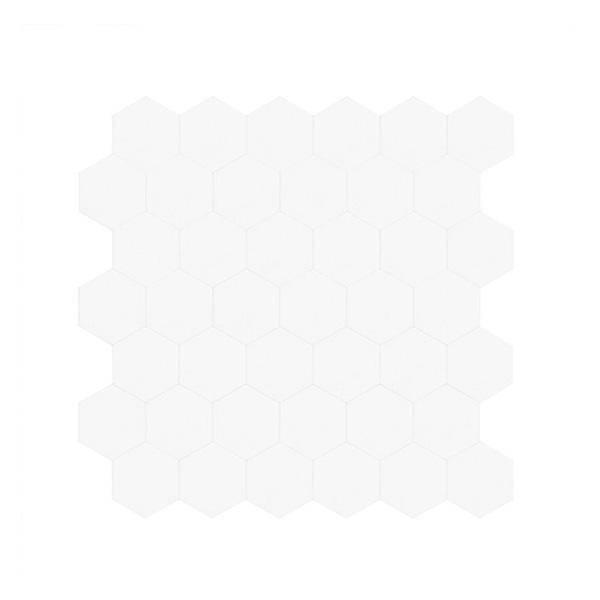 Bilde av Stein Hexagon hvit matt selvklebende veggfliser