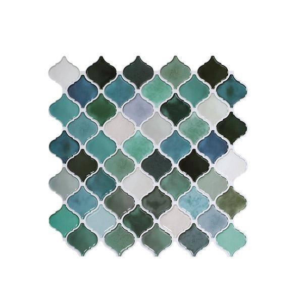 Bilde av Lanterne blå/grønn selvklebende veggfliser