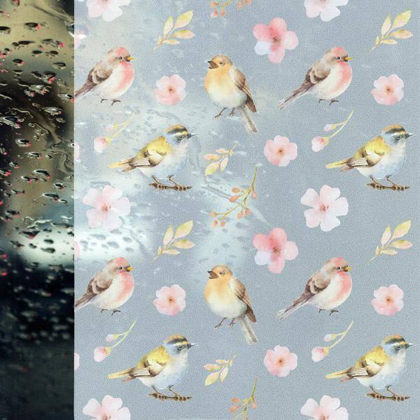 Bilde av Static Spring birds vindusfolie