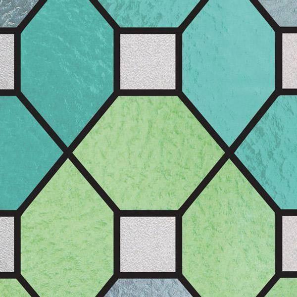 Bilde av Vareprøve: Static Farget glass grønn vindusfolie