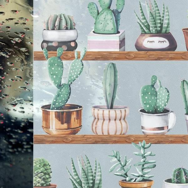 Bilde av Static Cacti vindusfolie