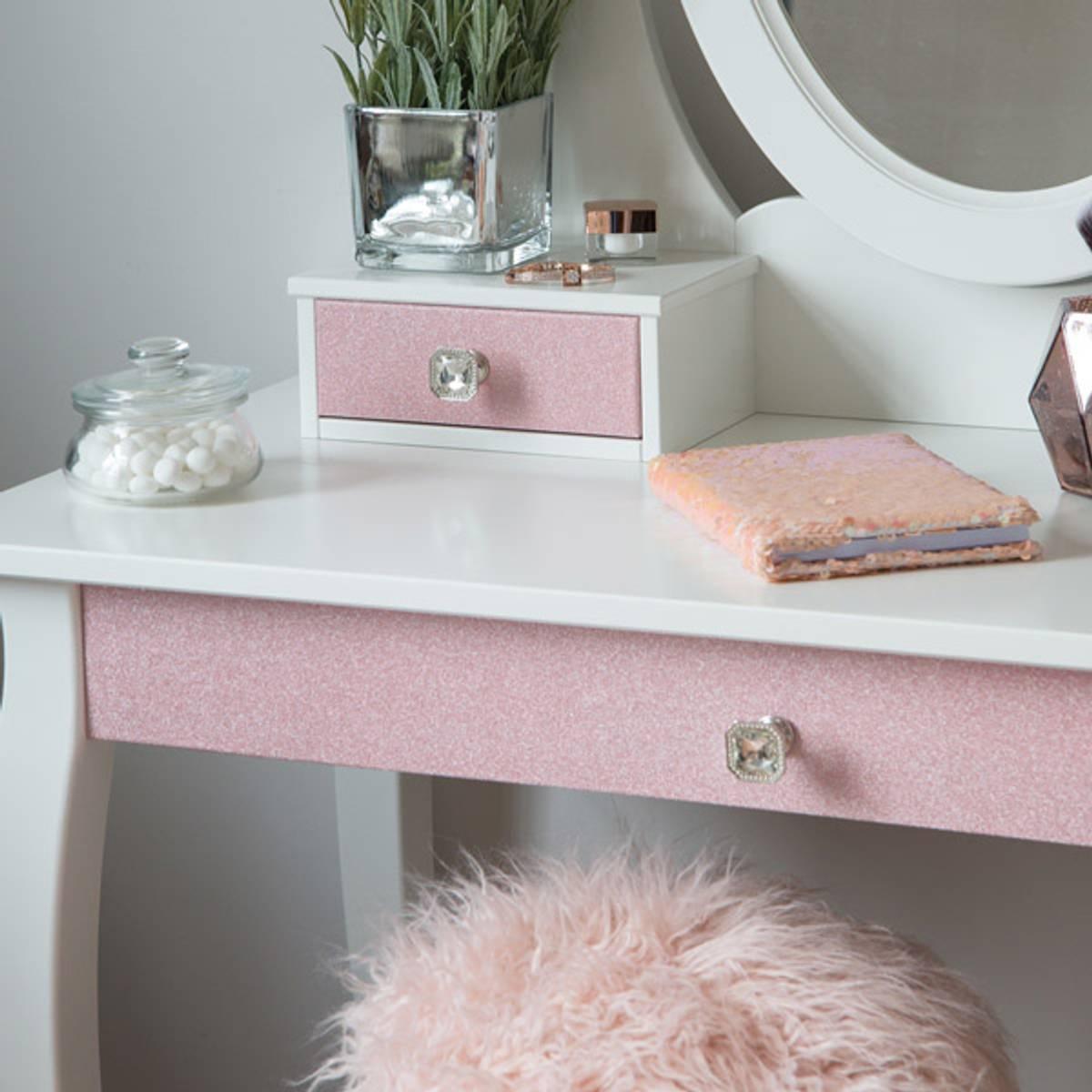 Glitter rosa kontaktplast