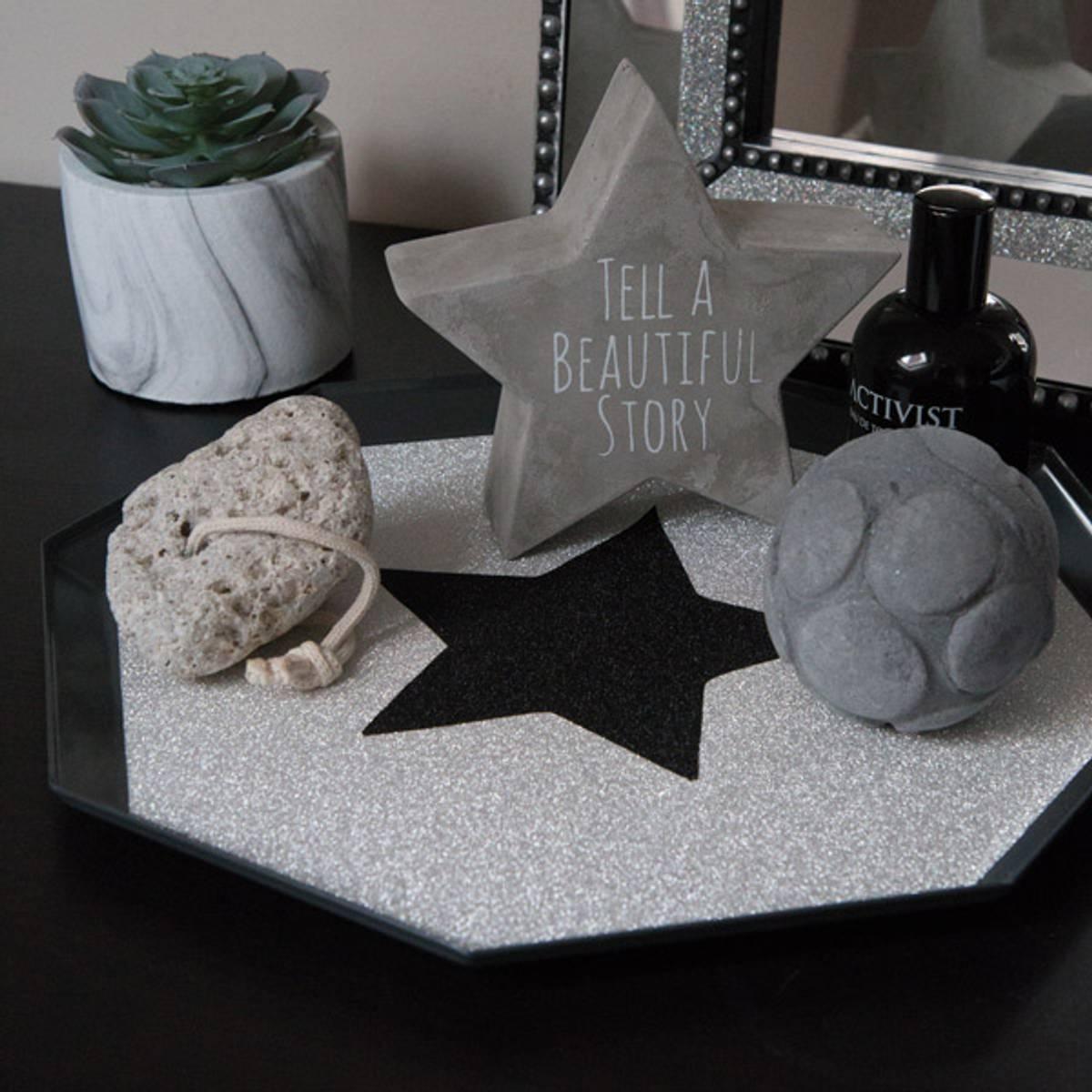 Glitter sølv kontaktplast