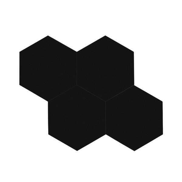 Bilde av Stein Hexagon XL sort selvklebende veggfliser