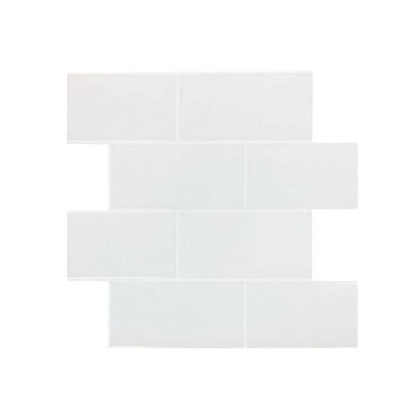 Bilde av Vareprøve: Subway hvite fliser med hvite fuger