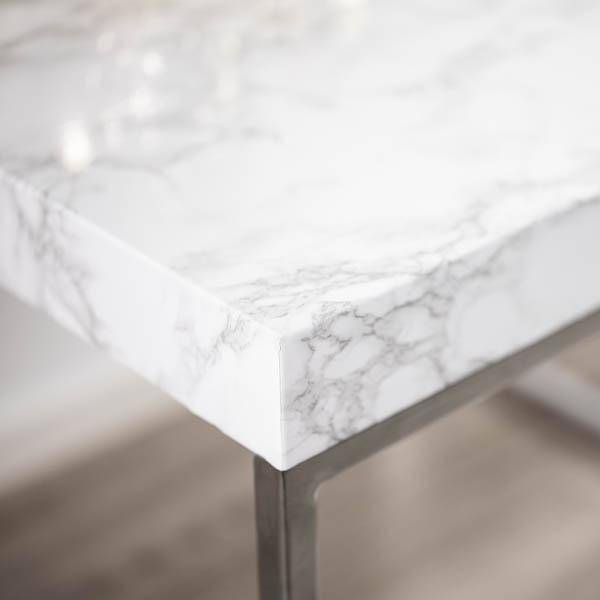 Bilde av Vareprøve: Marmor hvit/grå kontaktplast