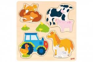 Bilde av Goki puslespill gårdsdyr, 4 stk
