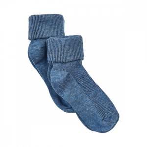 Bilde av 2 pakning Baby rib sock, blue melange