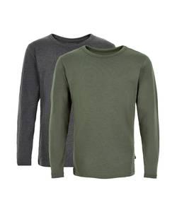 Bilde av 2 pakning genser, grønn og grå