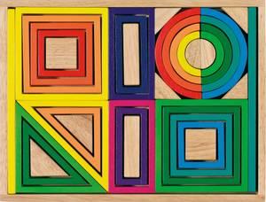 Bilde av Rainbow building blocks