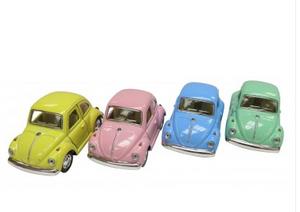 Bilde av volkswagen bobble, 1967 modell, pastellfarger