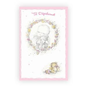 Bilde av Dåpskort jente, rosa