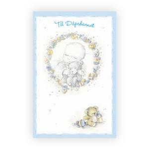 Bilde av Dåpskort gutt, lyseblå