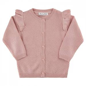 Bilde av Minymo cardigan knit, rose smoke
