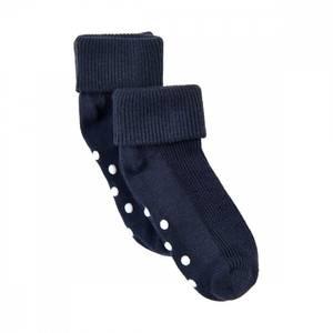 Bilde av Minymo baby rib sock med antiskli 2 pack, navy