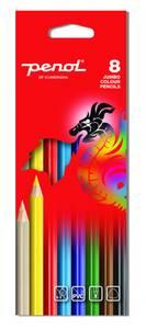 Bilde av Penol fargeblyanter jumbo, 8 stk