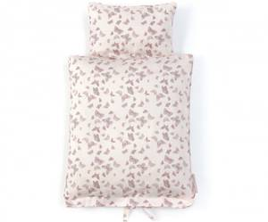 Bilde av Smallstuff dukkesengetøy, rosa med sommerfugler