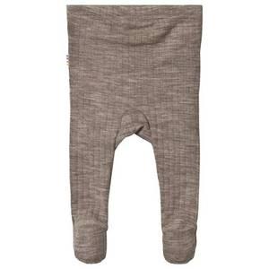 Bilde av Joha leggings med fot i merinoull, sesame melange