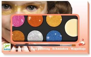 Bilde av Ansiktsmaling, palett med 6 farger, metallic