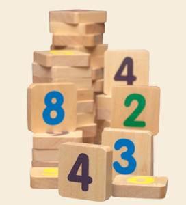 Bilde av Magnetiske tall i tre