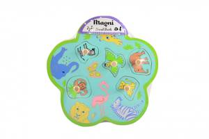 Bilde av Magni Knottepuslespill med lyd, ville dyr