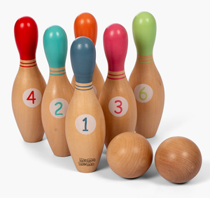 Bilde av Amleg bowlingsett i tre