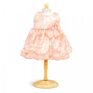 Bilde av Dukkeklær, kjole fersken str 42-46 cm