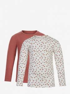 Bilde av Minymo - Basic T-Shirt LS (2-Pack) canyon rose