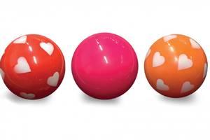 Bilde av Magni, 3 baller i nett, rød, rosa, orange