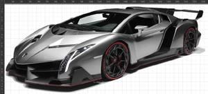 Bilde av Tøymerker Lamborghini grå10x23cm