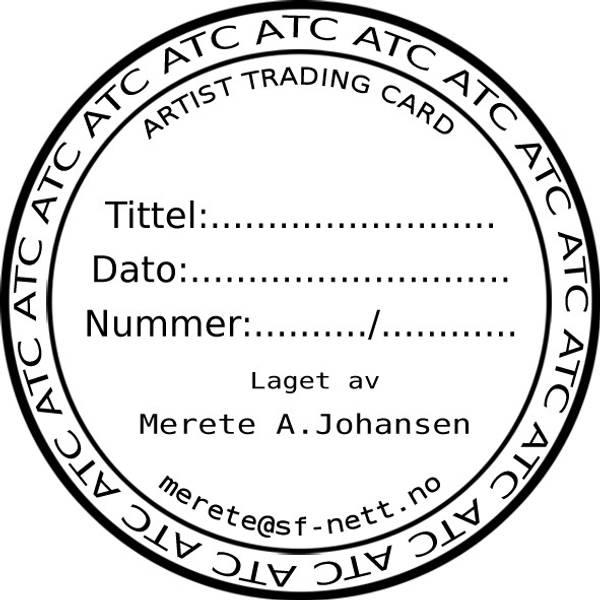ATC rund nr.2 ATC ATC 5cm