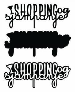Bilde av Shopping og sjampanje m/skygge