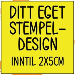 Bilde av PS Ditt eget design inntil 2x5cm