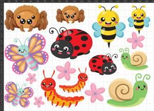 Bilde av A5 Tøymerker Cute Bugs